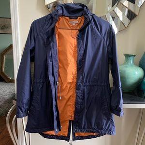 Navy women's Peter Millar waterproof rain jacket